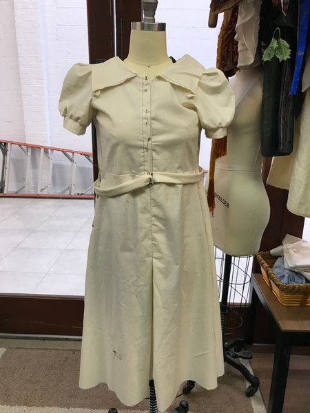 Mock Up of Young Eva's Poverty Dress