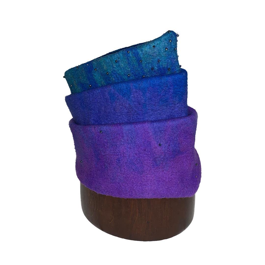 Merino Wool Tiered Felt Hat