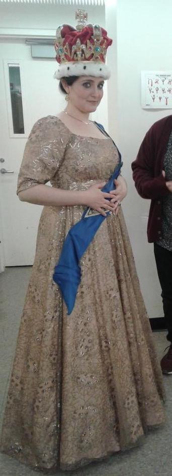 Kate Middle Coronation Gown (Skirt Draping, Cutting, & Stitching)