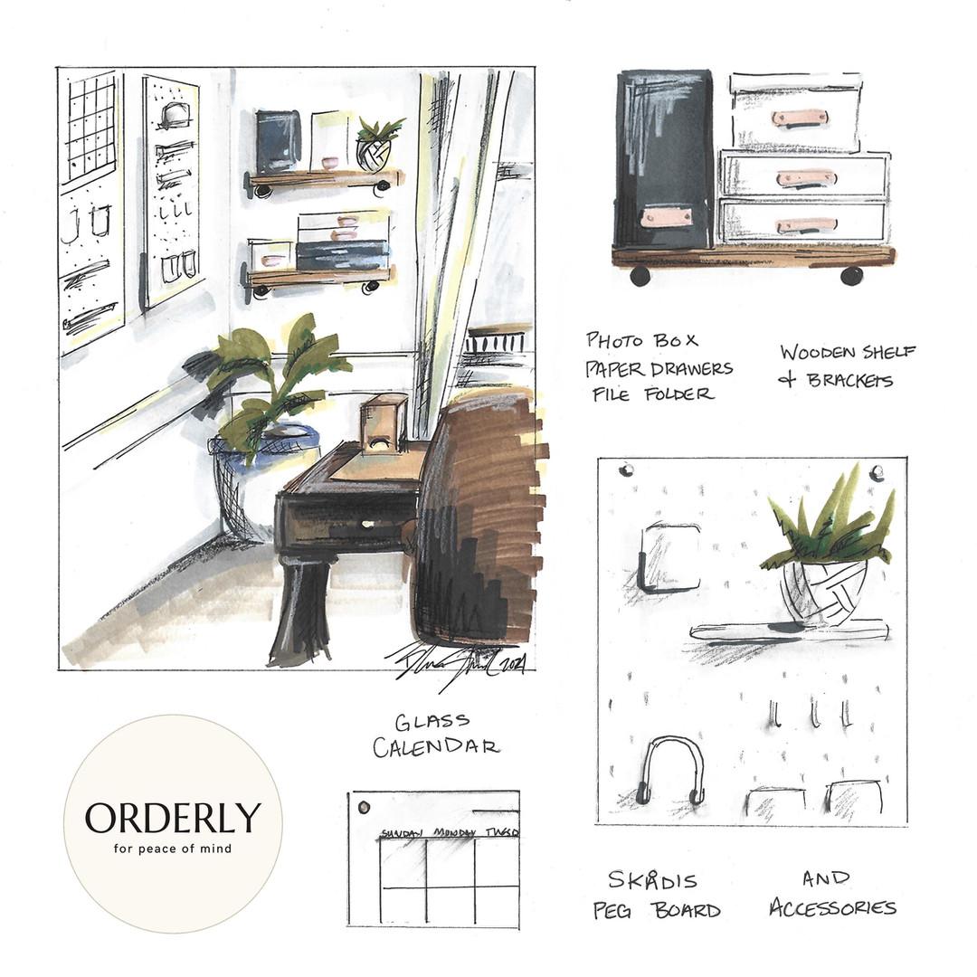 Home Office Interior Design Renderings