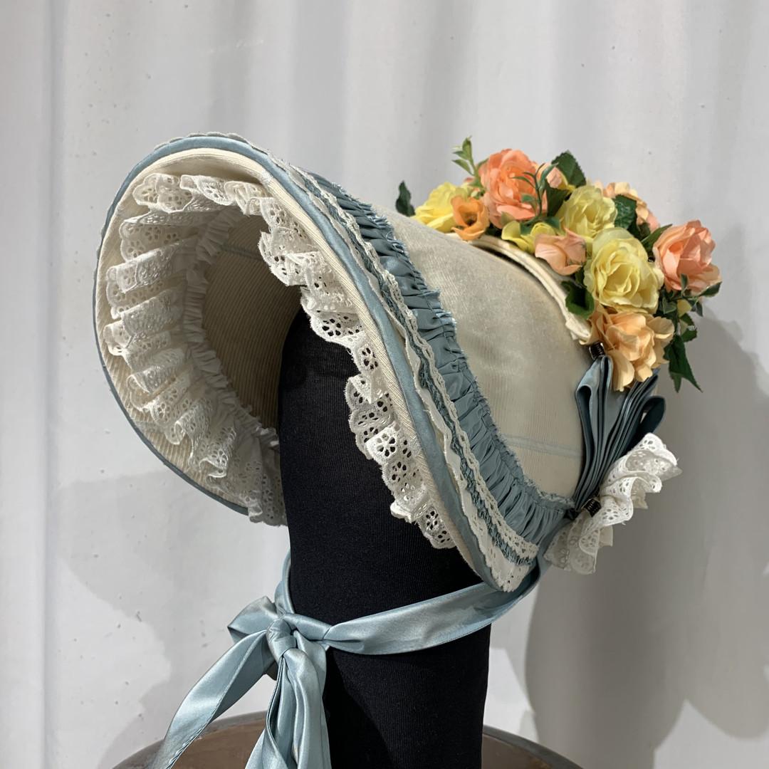Buckram Poke Bonnet