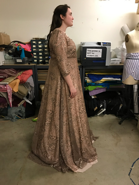 Kate Middle Coronation Gown Final Fitting (Skirt Draping, Cutting, & Stitching)