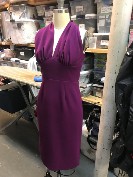 """Eva Peron's Magenta Halter Dress in """"And the Money Kept Rolling In (and Out)"""""""