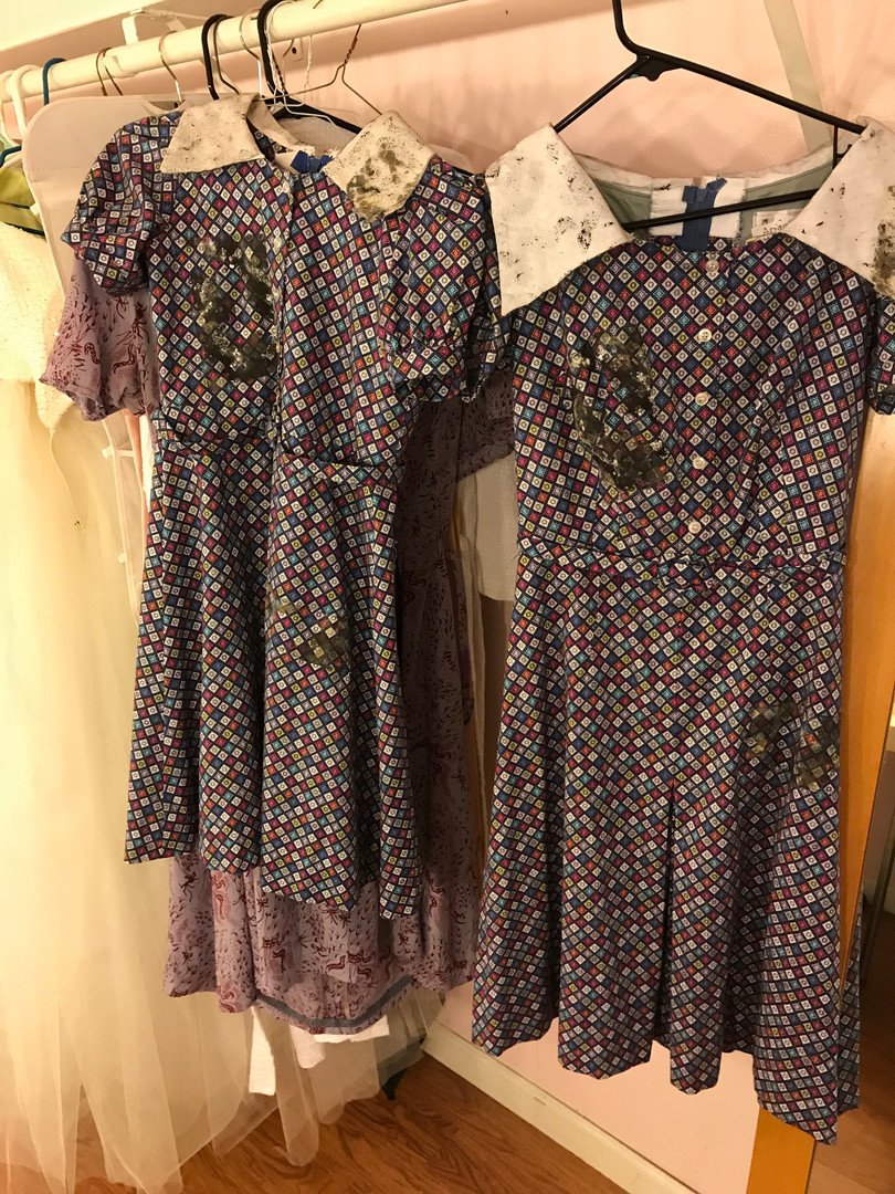 Comparison of Young Eva and Adult Eva's Poverty Dresses and Patch Matching
