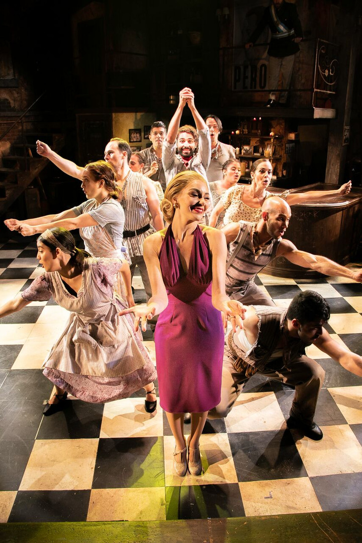 """Draping and Construction of Eva Peron's Magenta Halter Dress in """"And the Money Kept Rolling In (and Out)"""""""