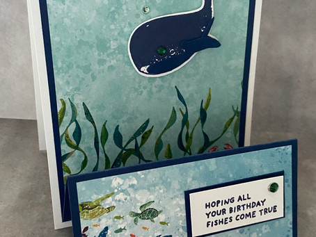 Mystery Stamping with Whale Done