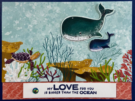 Whale Done My Love for You Baby Shower Card