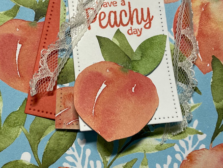 You're a Peach DSP Gift Box for Stampin' Ink Pad