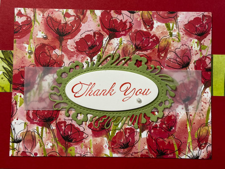 Painted Poppies Thank You