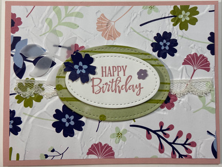 Paper Blooms Card for Gift Card Holder