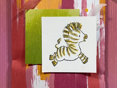 Zany Zebras Gift Bag & Card