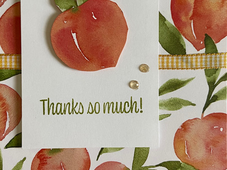 Fun & Easy Card with You're a Peach DSP