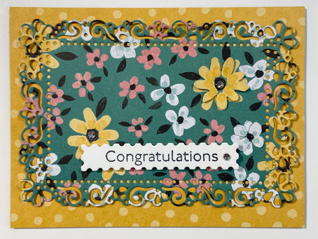 Art Gallery with Flower & Field DSP Card & Envelope for Baby Shower