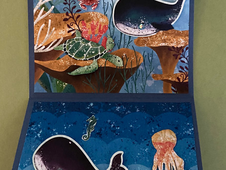 Whale of a Time Z Fold Card with my two Grandsons