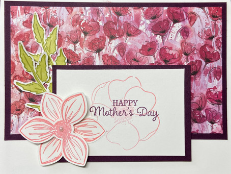 Mother's Day Painted Poppies with Blackberry Bliss