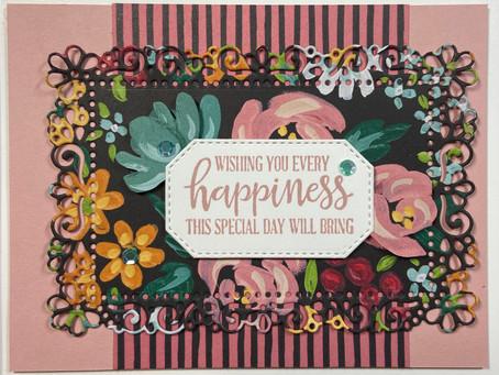 Flower & Field DSP Girl Baby Shower Card