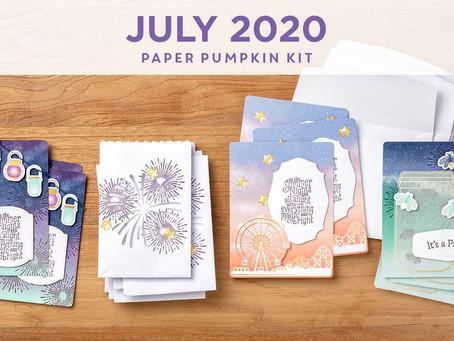 Summer Nights Paper Pumpkin 7/20