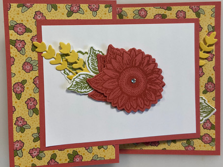 Celebrate Sunflowers with Ornate Garden Easy Fun Fold