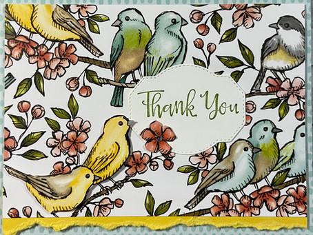 Bird Ballard Thank You Card