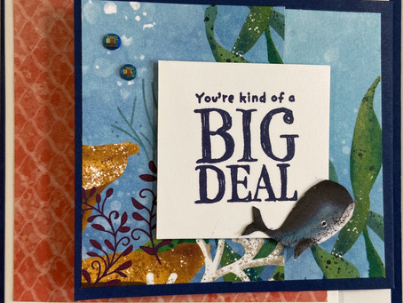 Double Flip Fold Card with Whale Done
