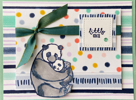 Playing with Patterns Baby Card
