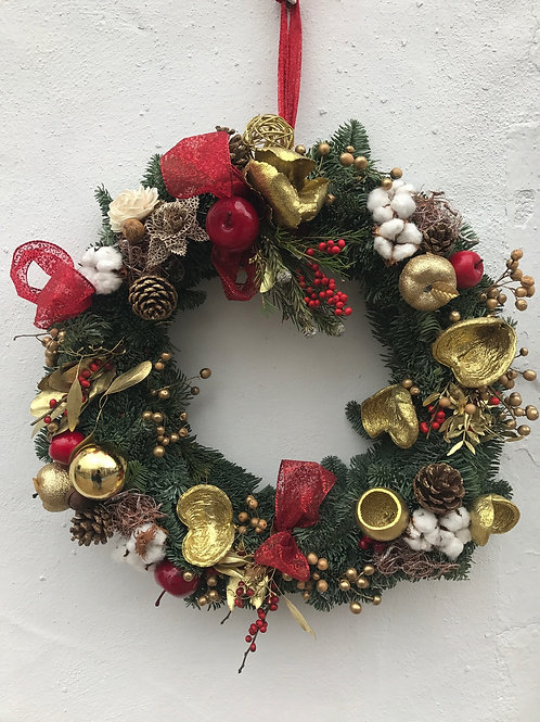 Classic Wreath for Door (35cm)