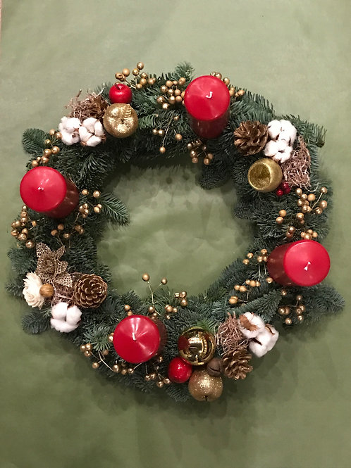 Table Wreath with Candles