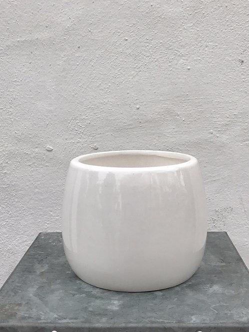 White Ceramic Orchid Pot