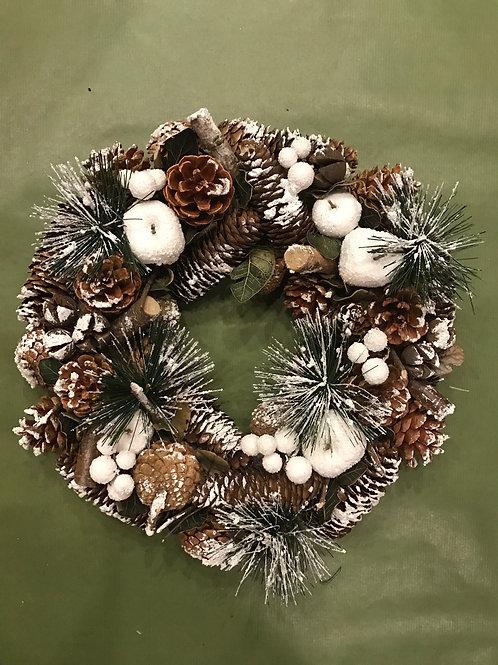 Snowy Pine Cones (35cm)