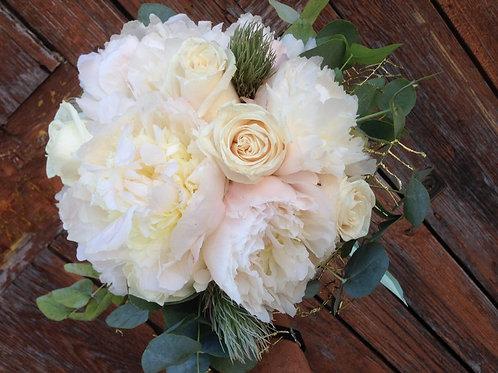White Peonies & Roses
