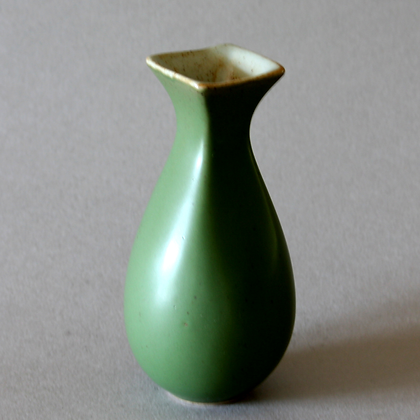 Forest Green Vase #3, Square Neck