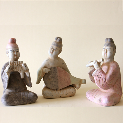 Seated Musicians Set #2, Set of 3