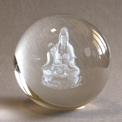 Crystal Kwan Yin Globe