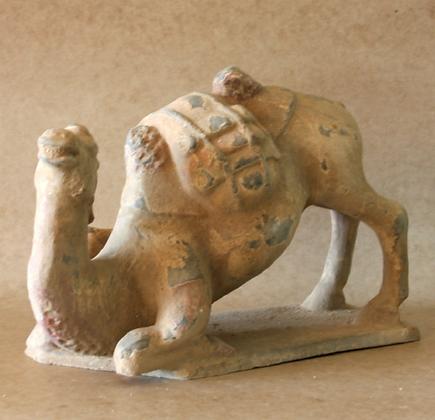 Kneeling Camel in Desert