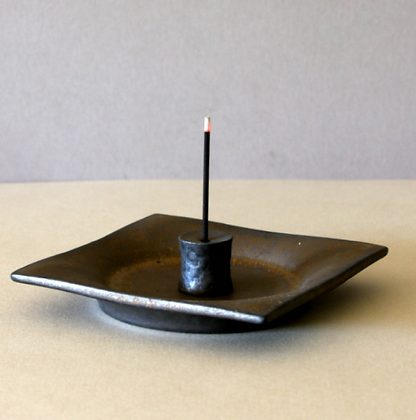 Square Plate & Incense Stand