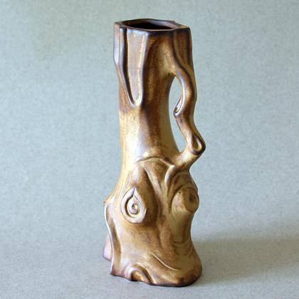Wood Trunk Vase, Brown