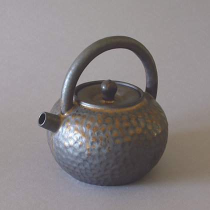 Hand-beaten Pattern Tea Pot, Gold