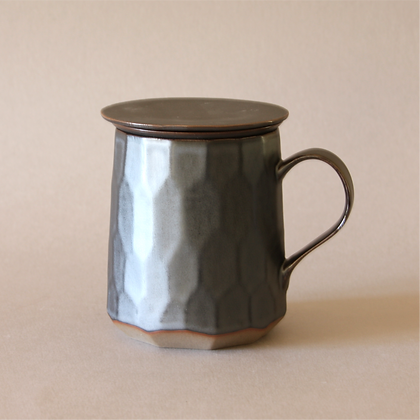 Patterned Tea Mug Infuser, Gray