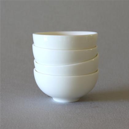 White Tea Cups, Set of 4