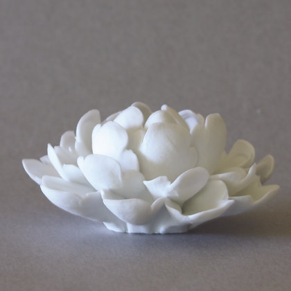 Peony Incense Stand, White