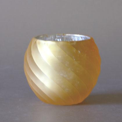 Tea Light Holder, Wavy Tan