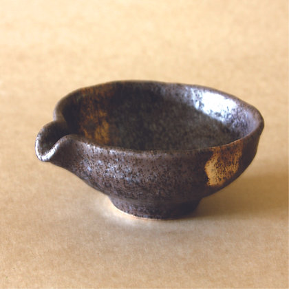 Tea Bowl w/ Spout Gray/Gold