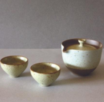 Spout Gaiwan & 2 Cups, White
