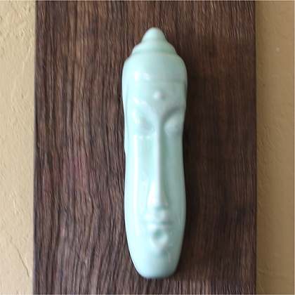 Buddha Face Hanging, Celadon
