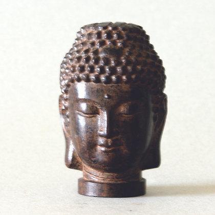 Buddha Head Wood Carving