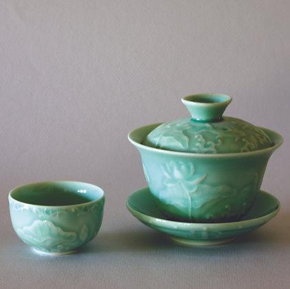 Lotus Gaiwan & 2 Cups