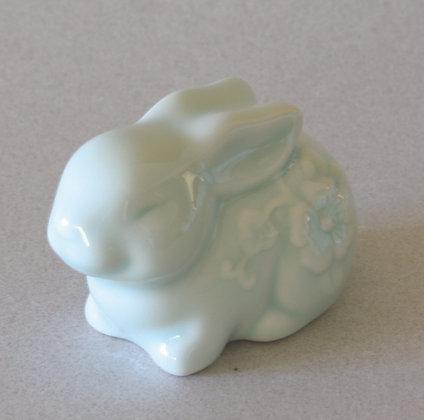 Celadon Rabbit Zodiac Figure