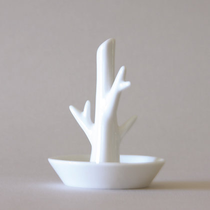 Tree Plate, White