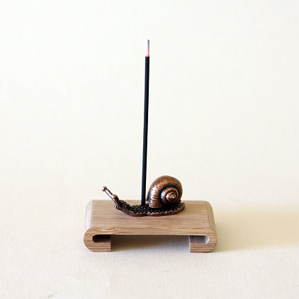 Snail Incense Stand, Metal