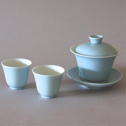 Blue Gaiwan & 2 Cups
